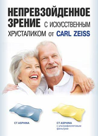 Линзы Carl Zeiss. Офтальмологический центр Зіниця